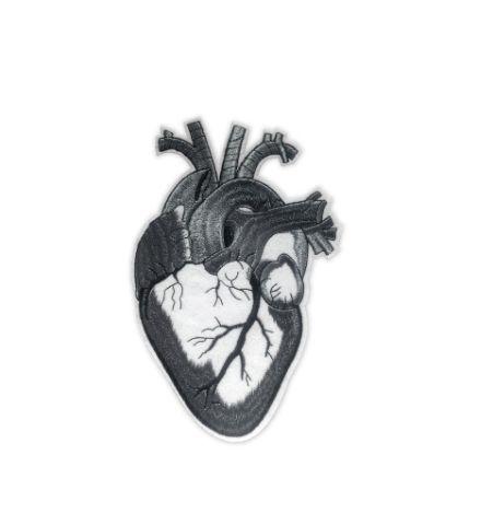 Parche Corazón Anatómico Gris XL