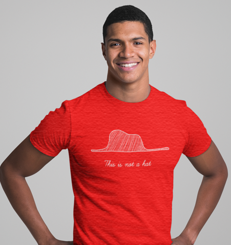 Camiseta H Roja c/r This is not a hat Blanco