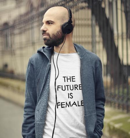 Camiseta H Blanca FUTURE IS FEMALE Negro
