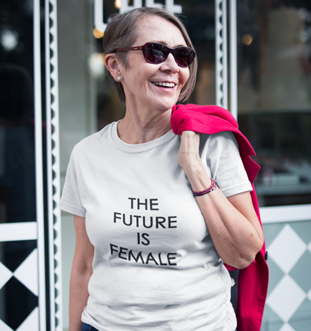 Camiseta Blanca FUTURE IS FEMALE Negro M