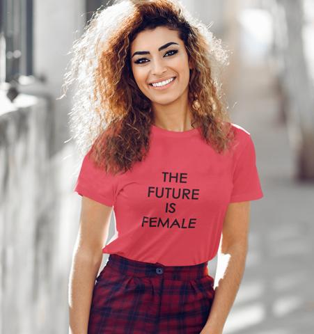 Camiseta M Roja FUTURE IS FEMALE Negro