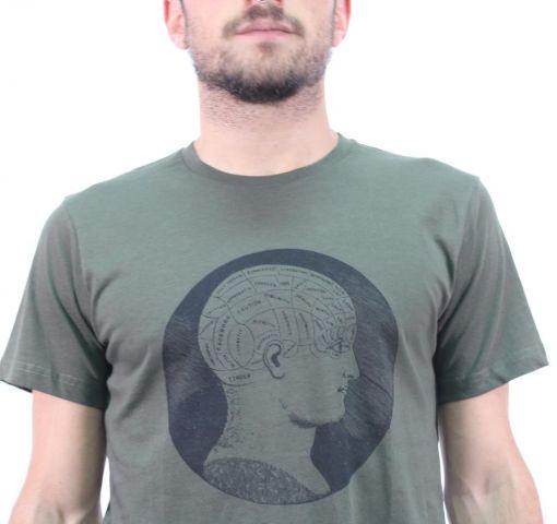 Camiseta H Khaki Freno Negro