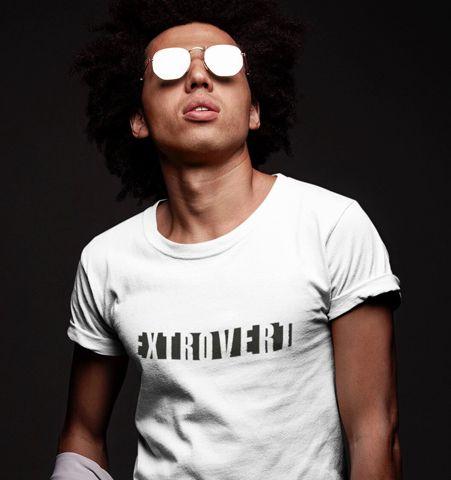 Camiseta H Blanca Intro/Extro Negro