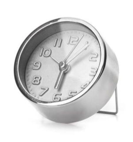 Mini Reloj Despertador Silver