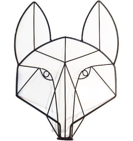 Caras Animales Alambre - Zorro