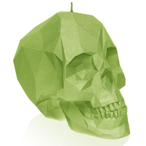 Vela Calavera Verde Fluo