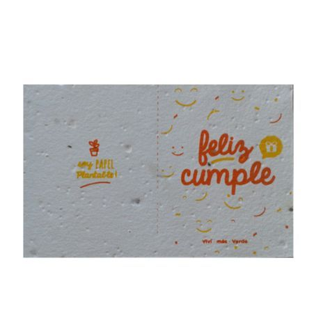 Postal Plantable Feliz Cumple