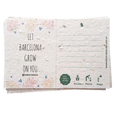 Postal Plantable Let BCN Grow