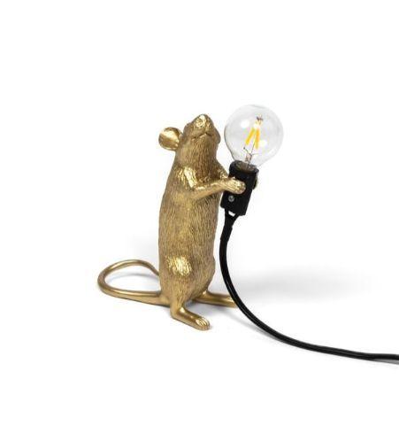 Seletti Lámpara Rata Dorado #1 De Pie