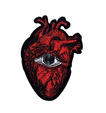 Parche Corazón Anatómico Rojo Con Ojo