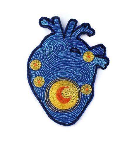 Parche Corazón Luna Van Gogh