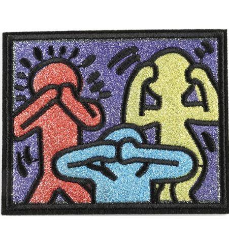 Parche 3 Personas Keith Haring
