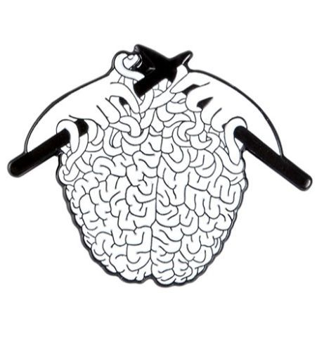 Pin Cerebro Tejido
