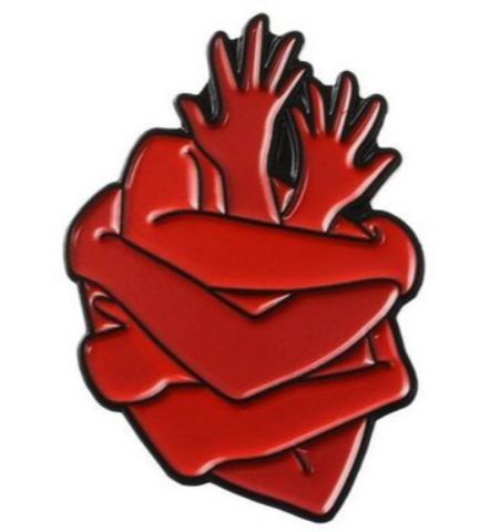 Pin Corazón Brazos