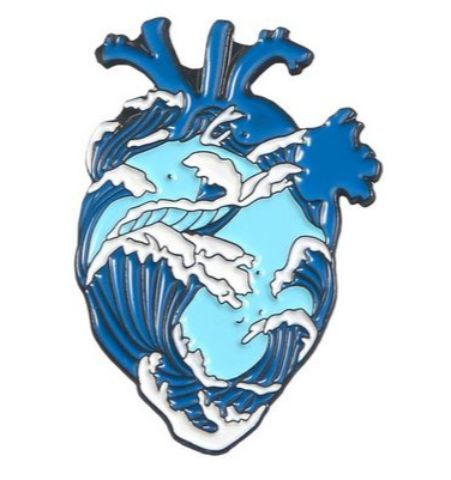 Pin Corazón Hokusai