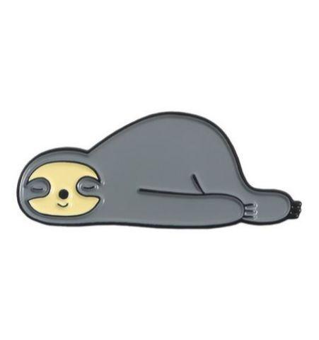 Pin Perezoso Durmiendo Gris