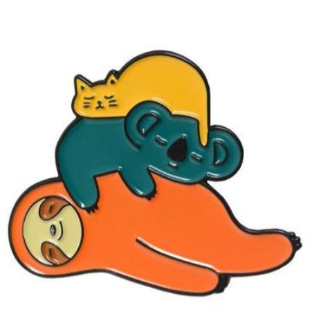 Pin Perezoso Koala Gato Durmiendo