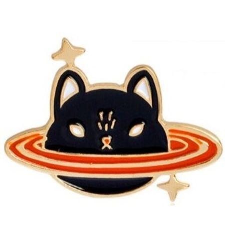 Pin Gato Saturno