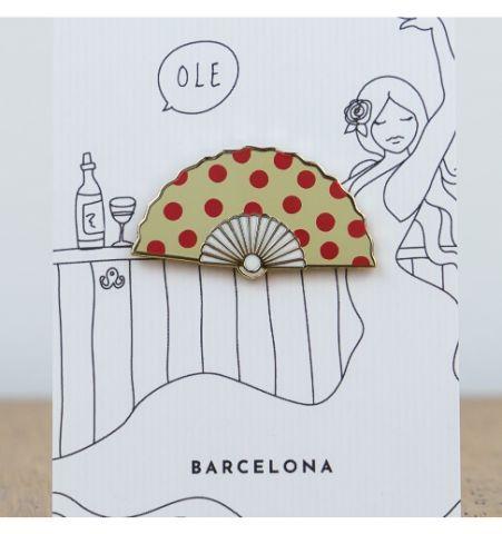 Pin Abanico Barcelona