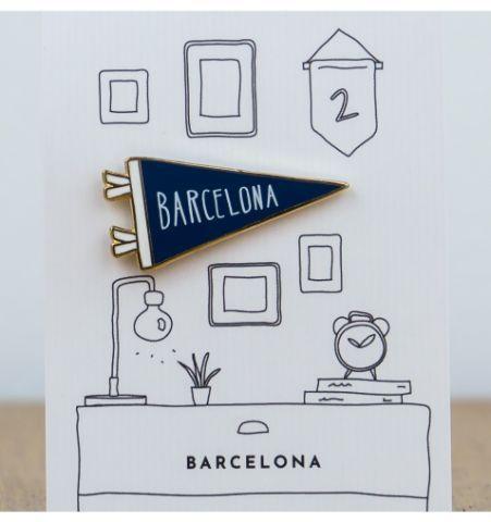 Pin Banderola Barcelona