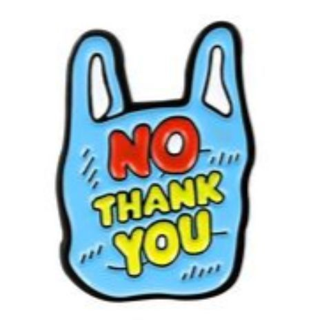Pin No Thank you - Bolsa Azul