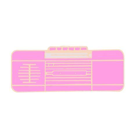 Pin Reproductor Musica retro rosa