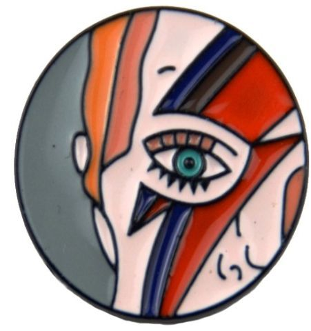 Pin Bowie Redondo