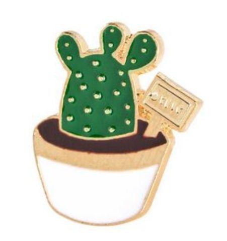 Pin Cactus Mini Maceta Blanca