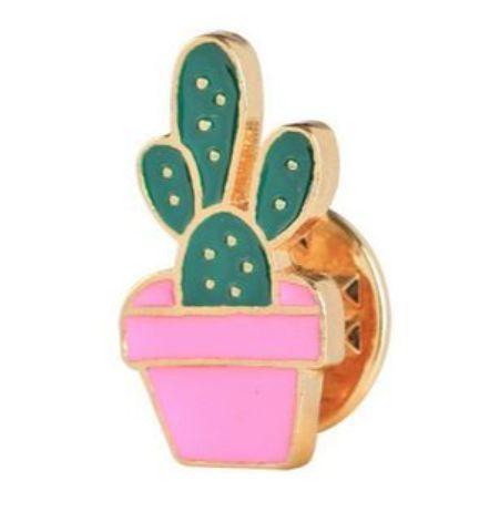 Pin Cactus Mini Maceta Fucsia