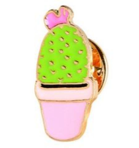 Pin Cactus Mini Maceta Rosa