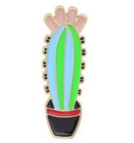 Pin Planta Verde y Celeste