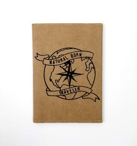 Porta pasaporte NBT Kraft/Negro