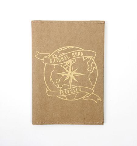 Porta pasaporte NBT Kraft/Dorado
