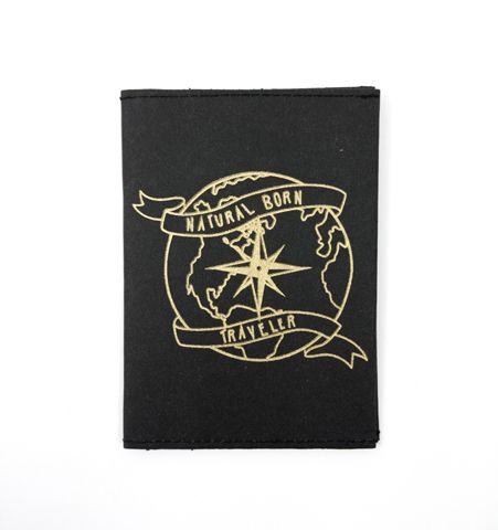Porta pasaporte NBT Negro/Dorado