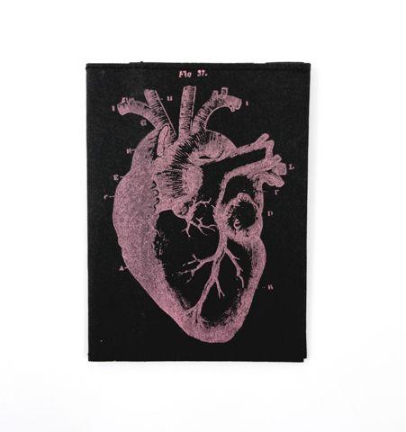 Porta pasaporte HEART Neg/Fucsia